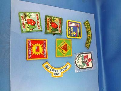 Boy Scouts Canada District Patches Lot 8 Lynn Valley Essex South Shore Woodstock