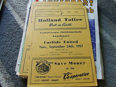 Southport V Carlisle United 1957-8