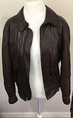 Vintage Bally Brown Men's Leather Jacket Size 36