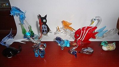 Assorted Vintage glass animal's