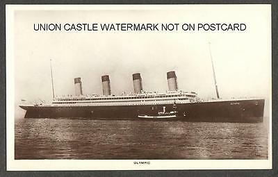 Real Photo Postcard White Star Line Rms Olympic Pre Titanic Sinking Image