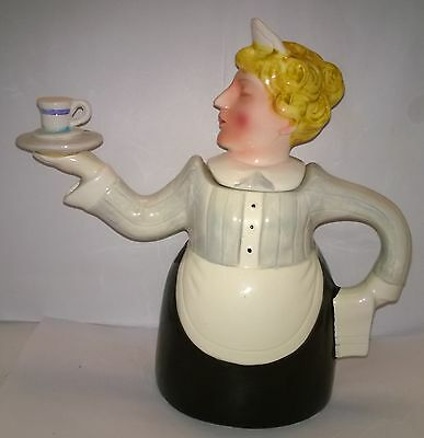 Rare Lovely Vintage Novelty Art Deco Style Teapot ~The Maid ~  Made In Japan