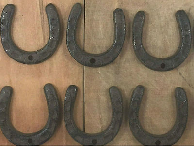 Set of 6 Mini Cast Iron Decorative Horseshoe Western Craft Decor Decorations
