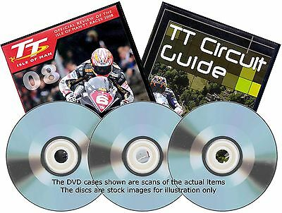 ISLE OF MAN TT RACES - 2008 OFFICIAL REVIEW Plus CIRCUIT GUIDE - Three DVD Discs
