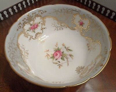 Antique Coalport Sugar Bowl Circa 1890 Hand Painted Floral Gilded Grey V.g.c