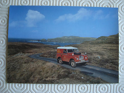 Post Office postcard  - Scottish Post Bus on route to Bettyhill Post Office