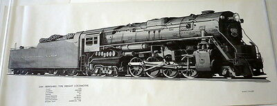 New York Central System Type Freight Locomotive & Tender 9400 - Print
