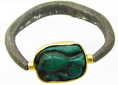 Superb Ancient Egyptian Gold & Silver Signet Ring c. 18th Dyn c 1543 - 1292 B.C.