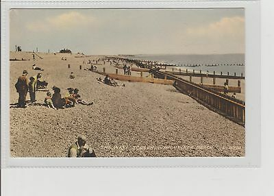 Winchelsea Beach Showing The Wave Screen Unposted Dated 1964 Valentines Series