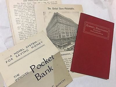 Gimbel Brothers Bankers & Department Store Ephemeral Post Cards
