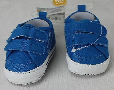 Carter's Infant Boys Cute Blue Sneakers Crib Shoes Size Newborn NWT