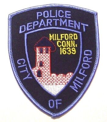 Milford Connecticut Police Patch Unused