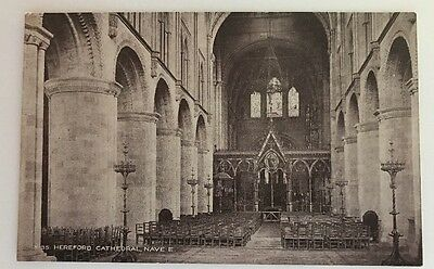 Vintage Postcard. Hereford Cathedral - Posted in a storage.boutique sleeve