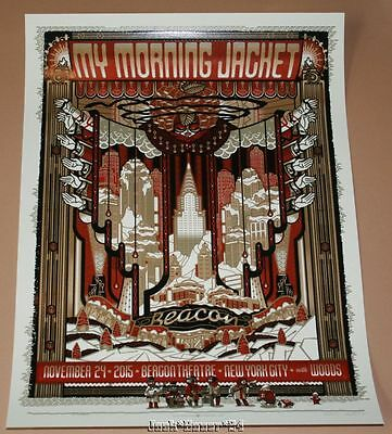 My Morning Jacket New York Guy Burwell Poster Print Signed Numbered AP 2015