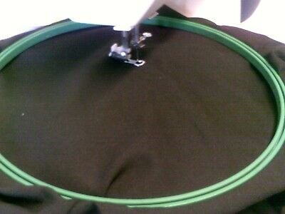 """LARGE  EMBROIDERY HOOP 290mm/11+"""" WITH  MACHINE EMBROIDERY FOOT c/47"""