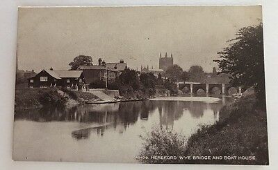 Vintage Postcard. Hereford Wye And Bridge Posted in a storage.boutique sleeve