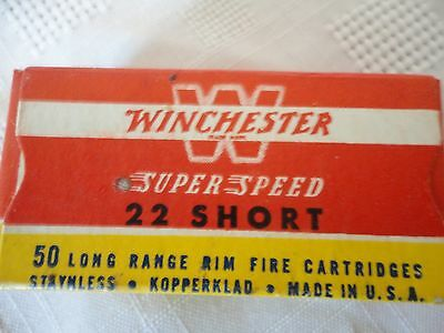 Empty Winchester Super Speed 22 Short Box