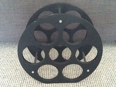 Wine Rack 7 Bottle Black & Chrome Contemporary Can Be Posted Packs Flat