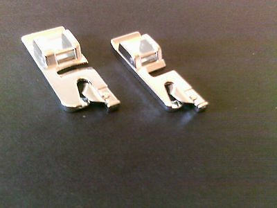 2 X NARROW HEMMER/ROLLED HEM FOOT FOR SEWING MACHINES  SNAP/CLIP-ON  ca/48