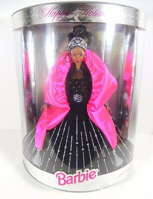 Nib Barbie Doll 1998 Happy Holidays Christmas Holiday African American Black Aa