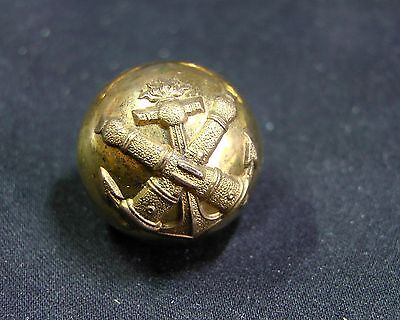 c.1890 FRENCH NAVAL ARTILLERY OFFICER DOMED 19mm GILT UNIFORM BUTTON A. M. & Cie