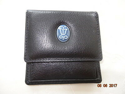 Lladro Society Black Leather Coin Purse, New, Unused