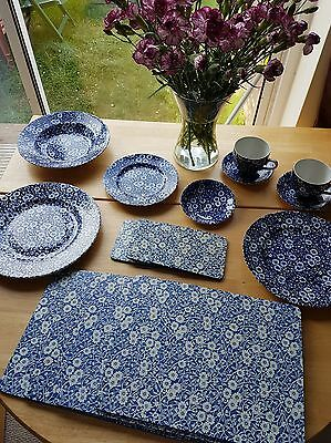 Burleigh Calico mixed collection of pottery, placemats and coasters!!!