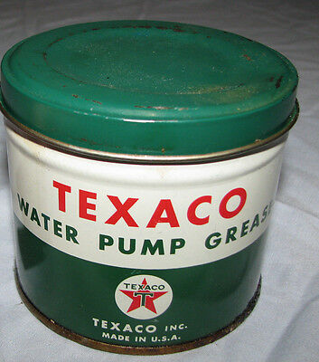 Vintage NOS Texaco Water Pump Grease 1lb Can - New Old Stock - #2
