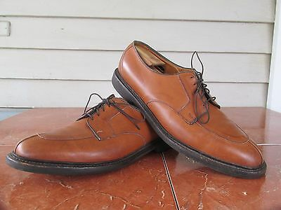 Allen Edmonds Sz 12 D Brown Leather Split Toe Men's Dress Shoes