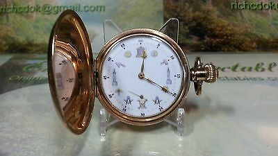 Masonic dial Hunting Cased Pocket watch