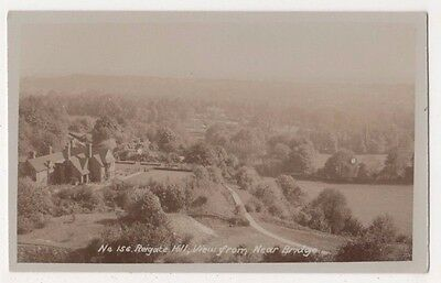 Reigate Hill, View from Near Bridge Surrey RP Postcard, B712