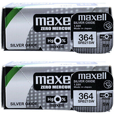 Maxell 364 SR621SW Silver Oxide 1.5V Watch Batteries QUANTITY 1-10