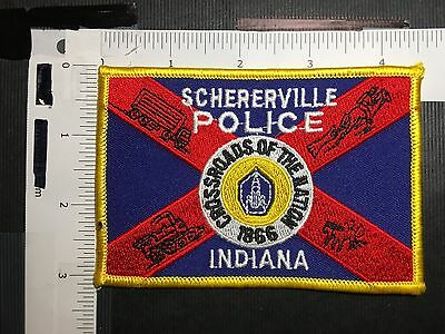 Schererville Indiana  Police Crossroads Of America  Shoulder Patch