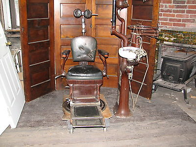 Antique Dental Chair and equipment