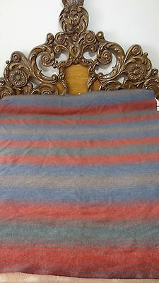 Great Pendleton Gray, Red, Blue, Green Wool Blanket #J156