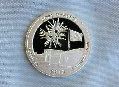 2013-S Fort McHenry Silver Proof ATB Quarter Ultra Deep Cameo