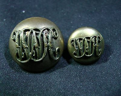 Pair of 1894-1925 WEST NORFOLK HUNT CLUB MOUNTED Gilt Buttons JENNENS