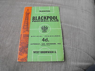 BLACKPOOL v WEST BROMWICH ALBION 16/11/63,  DIVISION 1