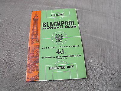 BLACKPOOL v LEICESTER CITY 30/11/63, DIVISION 1
