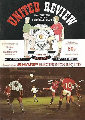 Manchester United v Halifax - Rumbelows Cup - 1990/91