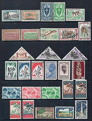 FRENCH COLONIES Mixed Lot #1 29 Stamps Most Good - Fine Used, Mint or CTO, LH