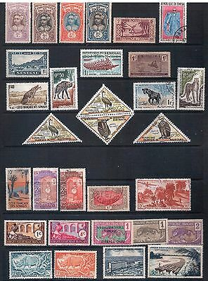 FRENCH COLONIES Mixed Lot #3 30 Stamps Most Good - Fine Used, Mint or CTO, LH