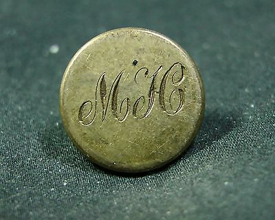 post 1895 MEATH HUNT CLUB (IRISH) ENGRAVED 15MM GILT DRESS Button PITT & CO