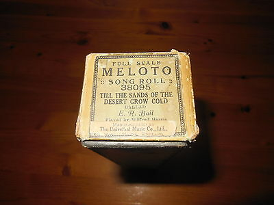 Meloto Song Roll - Till The Sands Of The Desert Grow Cold - 38095 - Pianola Roll