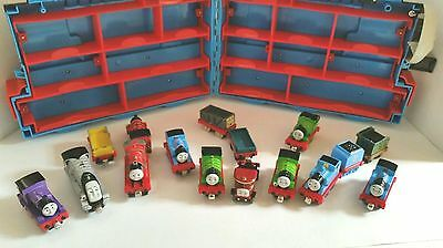 Thomas the Tank Engine Train Case with 16 Trains 2002 - 2012 Mixed Pieces
