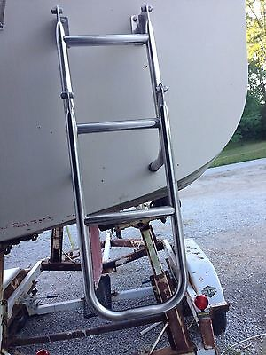 Catalina 22 Sailboat And Others Swim/boat Ladder Assembly 2 Piece Nice
