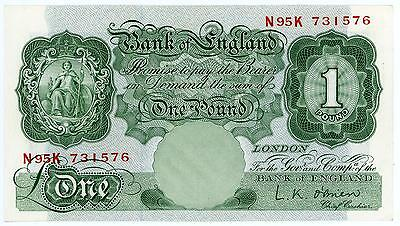 GB Bank of England £1 Banknote in Very Good Used Condition O'Brien