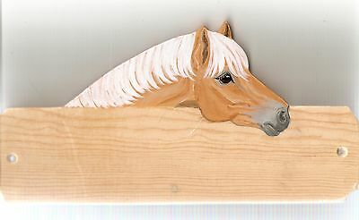 Hafflinger horse/pony stable/stall/barn name plate/plaque/sign personalised gift