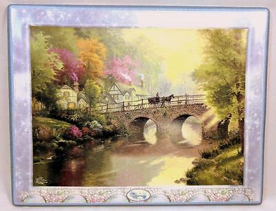 "Bradford Exchange Thomas Kinkade ""hometown Bridge"" Collector Plate W/ Coa"