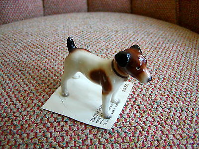 HAGEN RENAKER Dog Miniature Figurine Jack Russell Terrier on Original Card